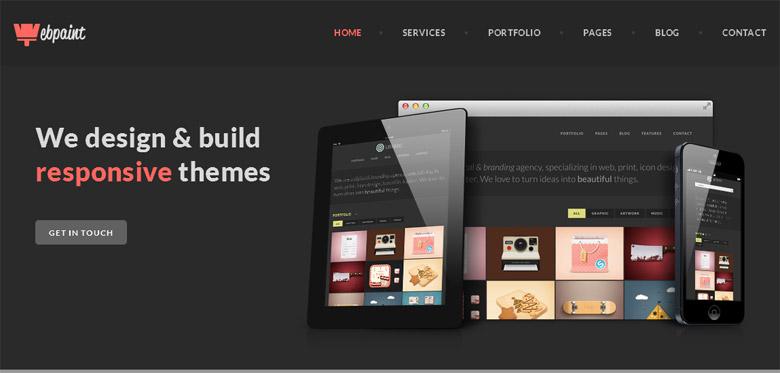 Responsive WordPress Portfolio Theme Webpaint