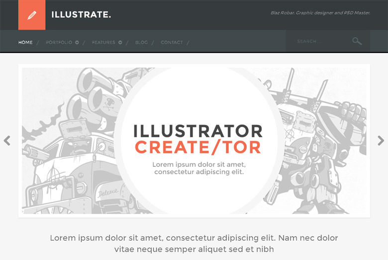 Responsive WordPress Portfolio Theme Illustrate