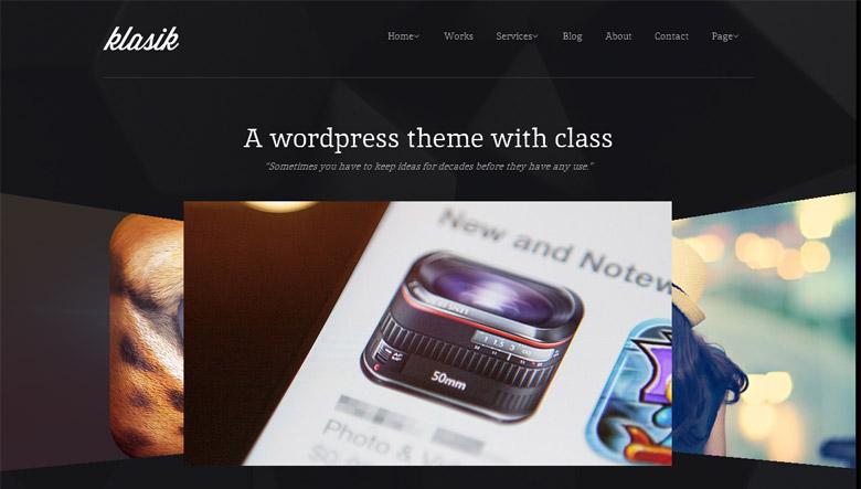 Responsive WordPress Portfolio Theme Klasik