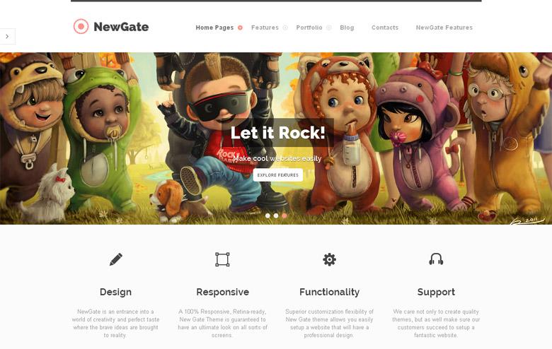 Responsive WordPress Portfolio Theme NewGate