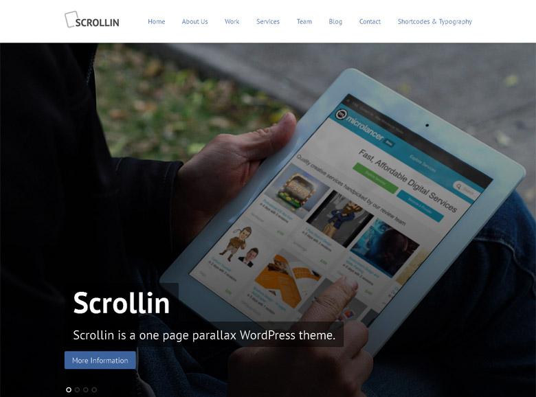 Responsive WordPress Portfolio Theme Scrollin