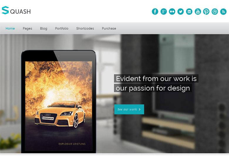 Responsive WordPress Portfolio Theme Squash
