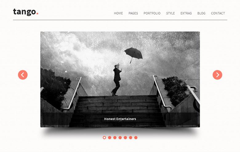 Responsive WordPress Portfolio Theme Tango